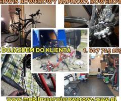 Mobilny serwis rowerowy Warszawa, całe mazowsze / Naprawa rowerów z dojazdem do klienta